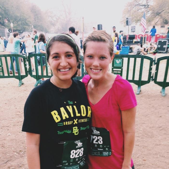 I ran with my dear friend Abby!