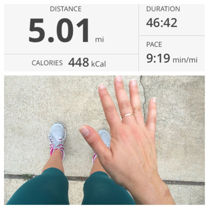 July 20th- pre training 5 mile run. Really great temperature with a nice breeze (Crazy for TEXAS in July!) A little bit more hilly than what I was going for! Good run though!