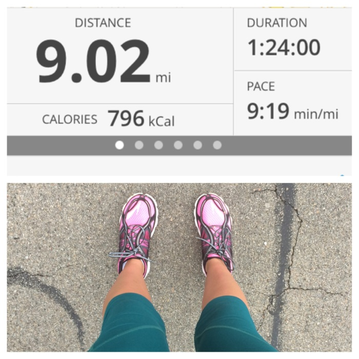 Sept 7th- Got my goal pace! This was a really great run. The weather was a little cooler & I started when it was still dark outside so I think it really felt better than normal because of those factors. Happy with this run!