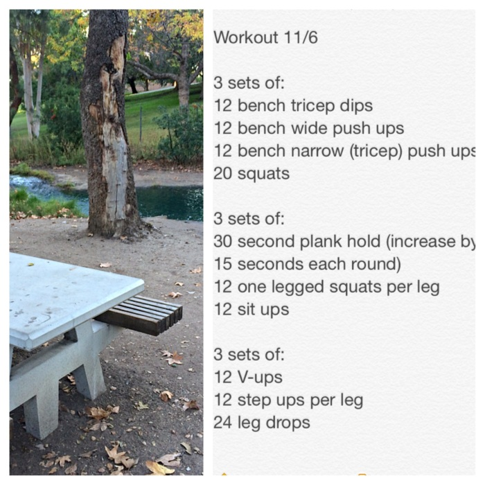 One of my simple body weight workouts I did that didn't irritate my Achilles but still gave me a good sweat!