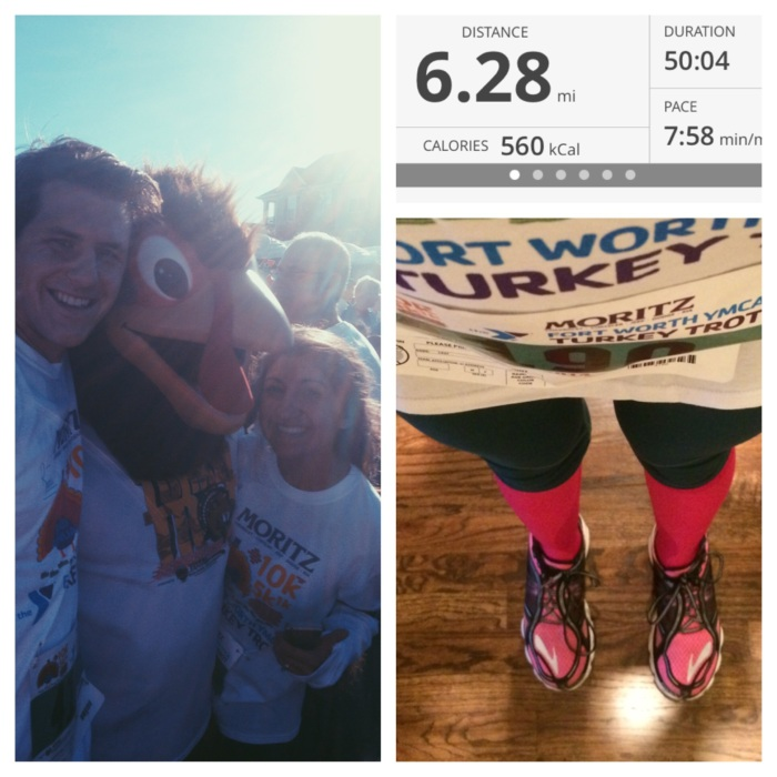 Ran the Turkey Trot 10K the day after I was cleared to run again. I was just so thankful to run!!