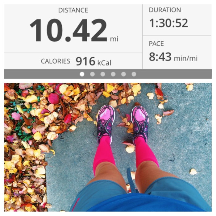The last time I ran- last Sunday. Compression socks helped but still dealt with a lot of pain!